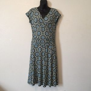 Maggy L Floral Green Multicolor Dress